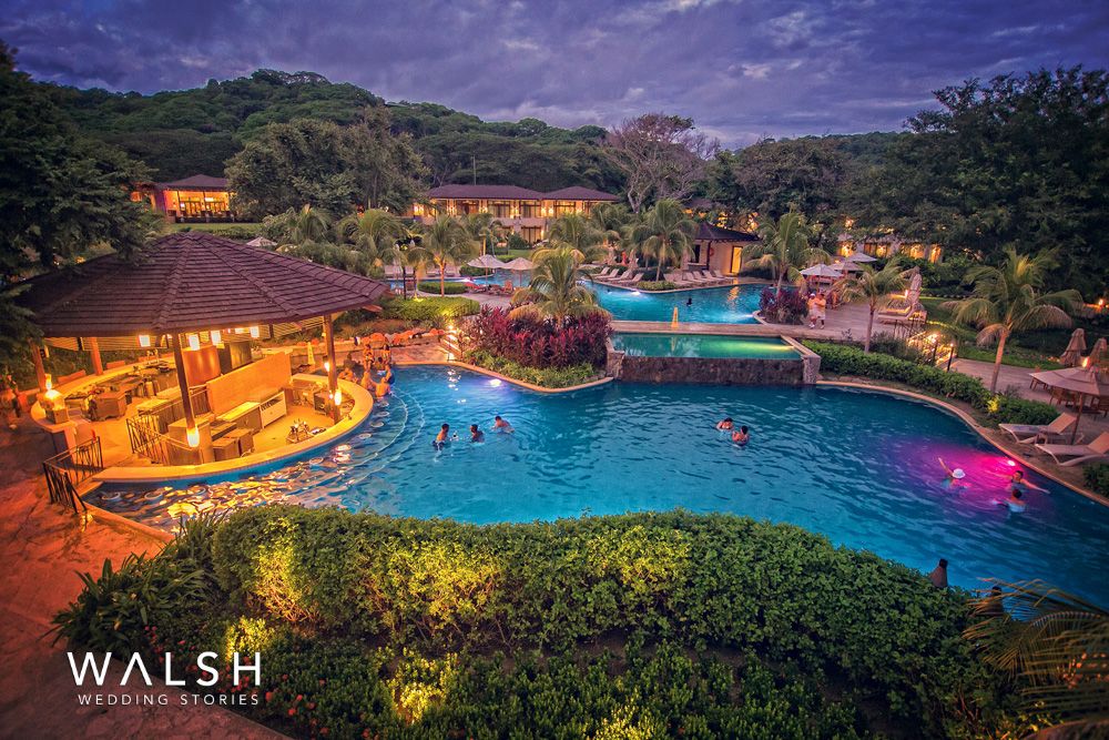 Dreams las mareas costa rica wedding photographer- sunset view of resort