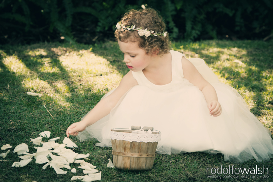 flower girl at The Palms Hotel Miami Beach