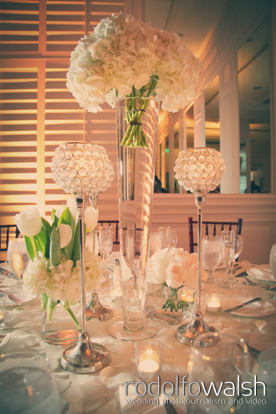 Wedding table set up at The Palms Hotel Miami