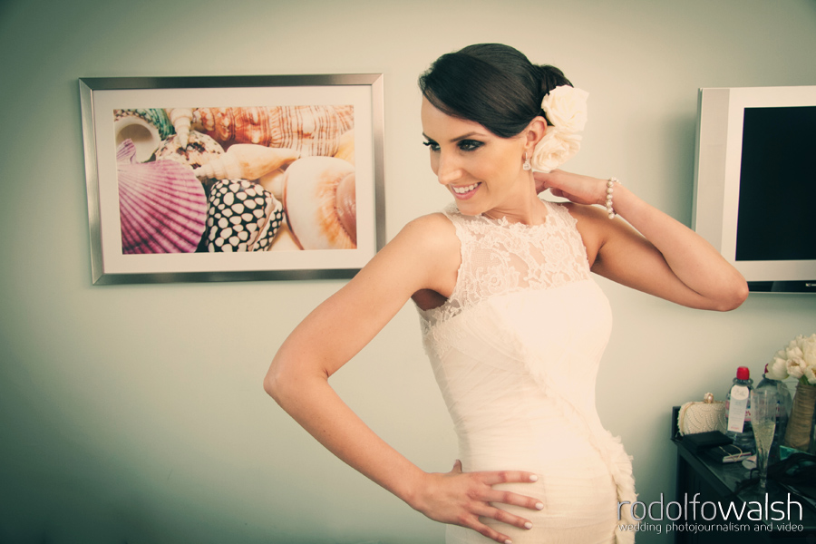 Bride getting ready at The Palms Hotel