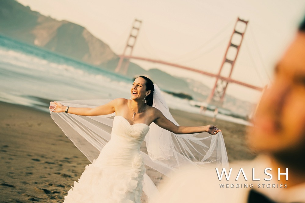 san francisco wedding photographers-Wedding photography at Baker Beach San Francisco