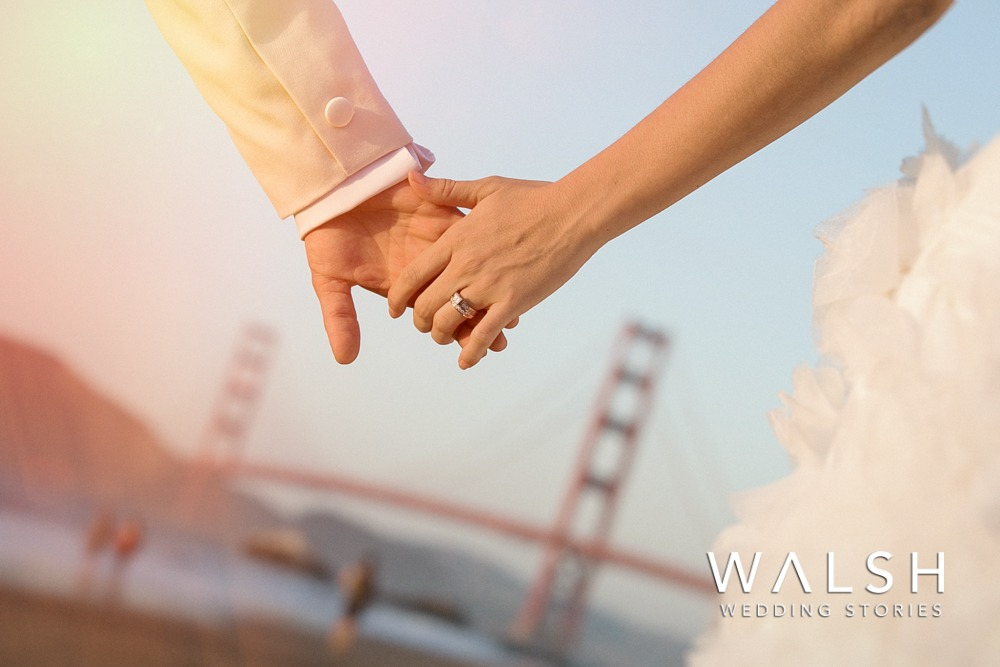 Wedding photographers at Baker Beach and golden gate bridge San Francisco