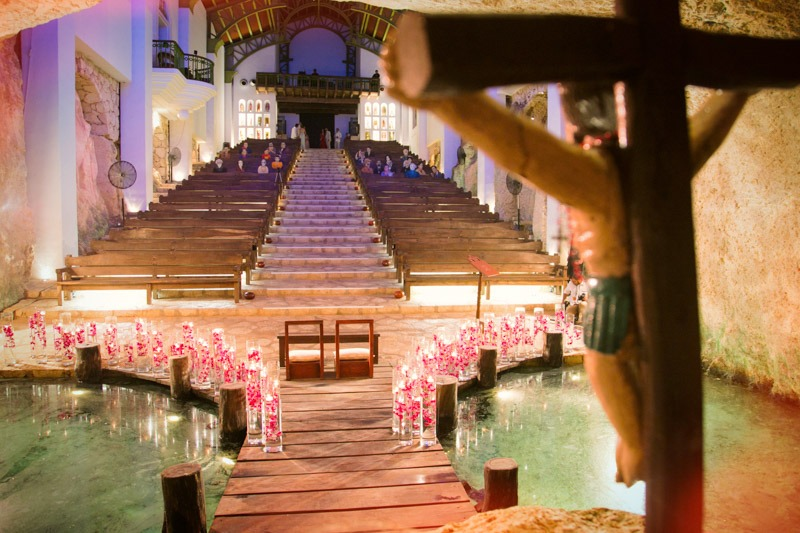 A (212) Guadalupe chapel in Xcaret, Cancun before a wedding- Xcaret weddings