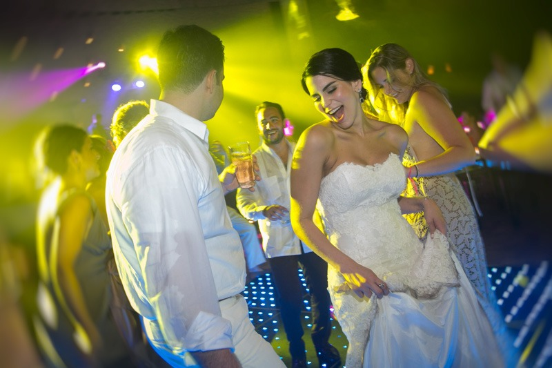 A (224a)- Bride dancing in La Isla at Xcaret Cancun- wedding photographers Mayan Riviera