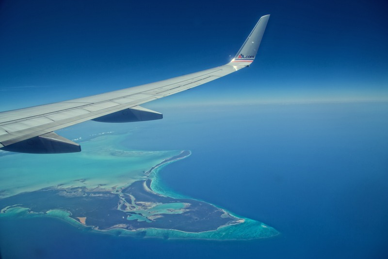 DC-1000-Caribbean islands and turquoise water from the airplane- Caribbean wedding photographers