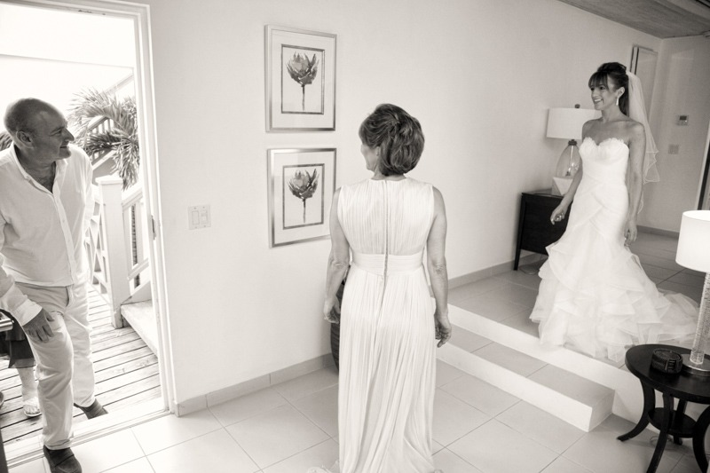 DC-1018 Dad seeing the bride for the first time at Carlisle Bay hotel in the island of Antigua- Caribbean wedding photographer