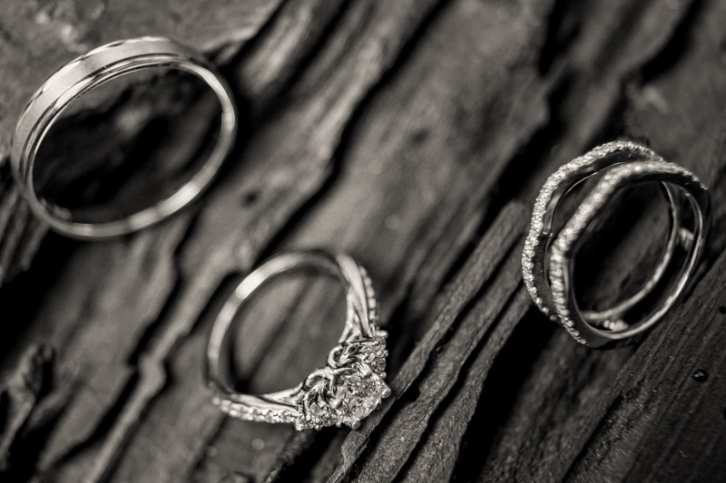 TC-1009 Photo of wedding rings on old wood- Antigua Guatemala wedding photos