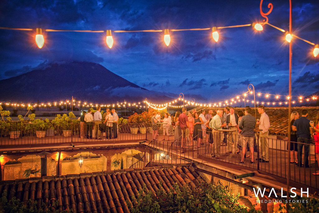 Weddings in antigua guatemala-night view of volcanoes