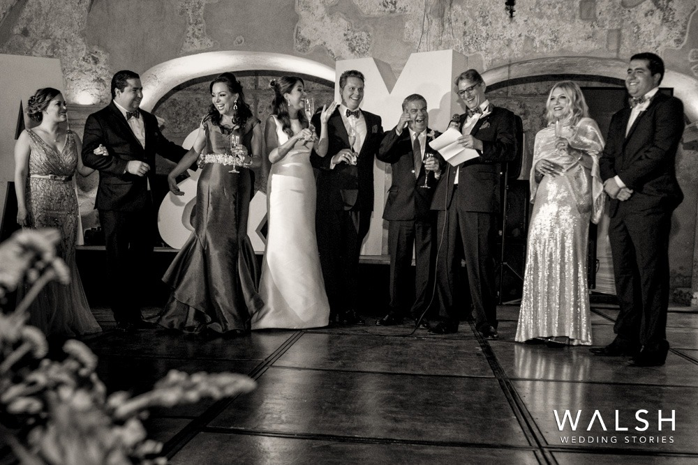 speeches at wedding in Convento Santa Teresa Antigua Guatemala
