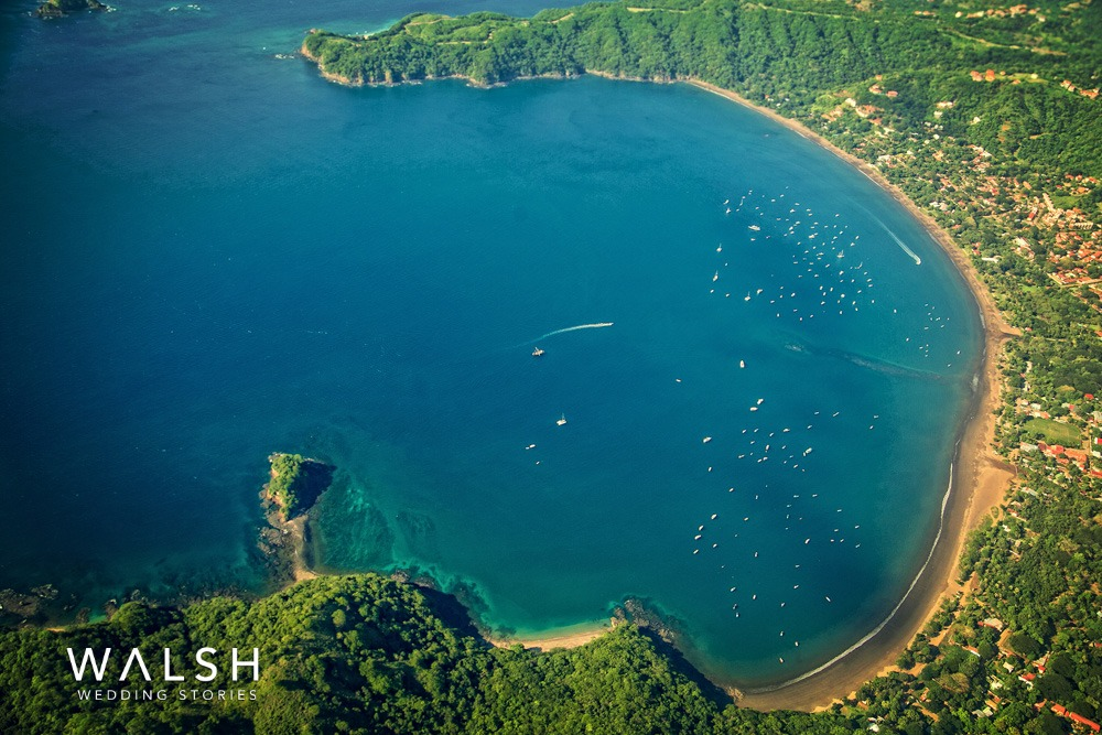 costa rica beach aerial view
