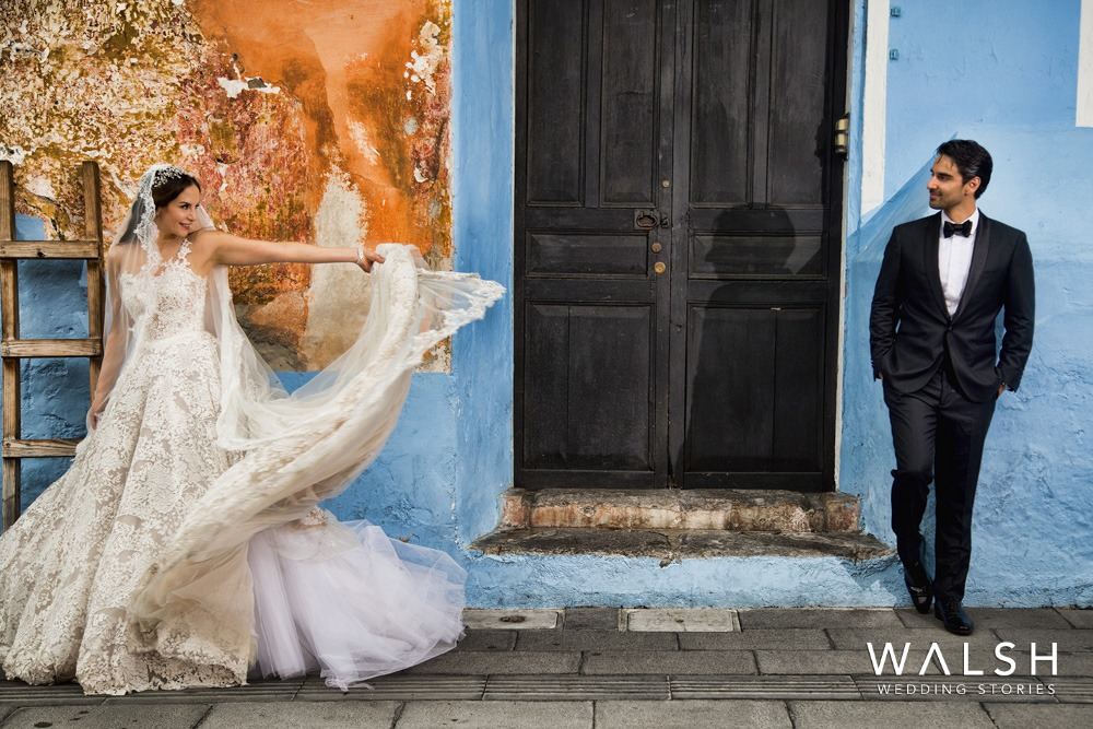 wedding photos in the streets of antigua