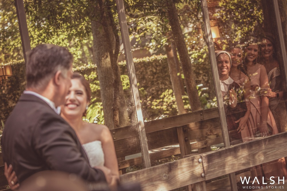 first look by dad . houston wedding photographers