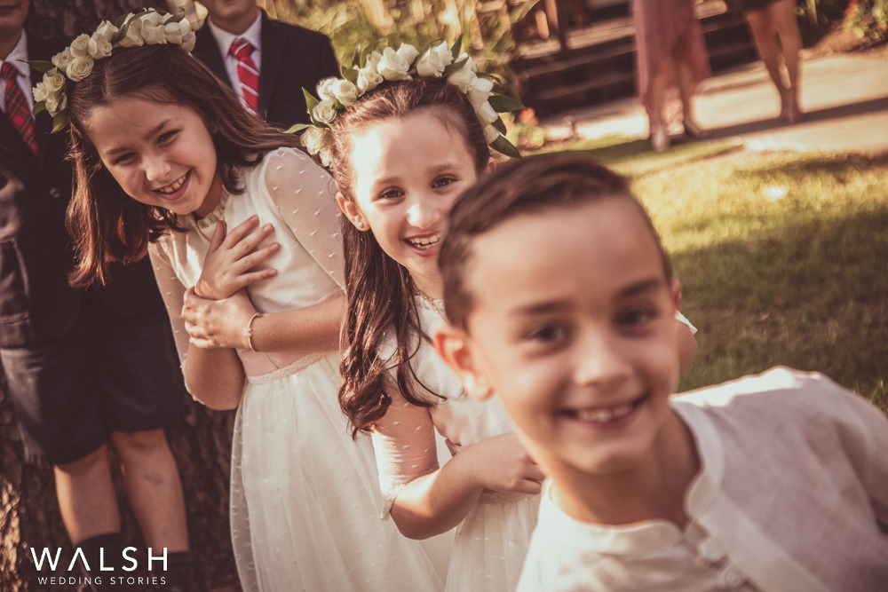 kids at a wedding in texas